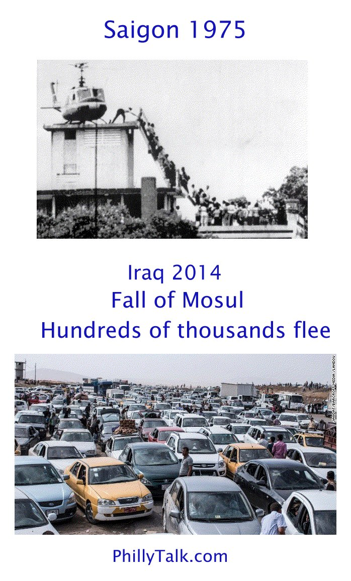 Saigon 1975 Iraq 2014 fall of